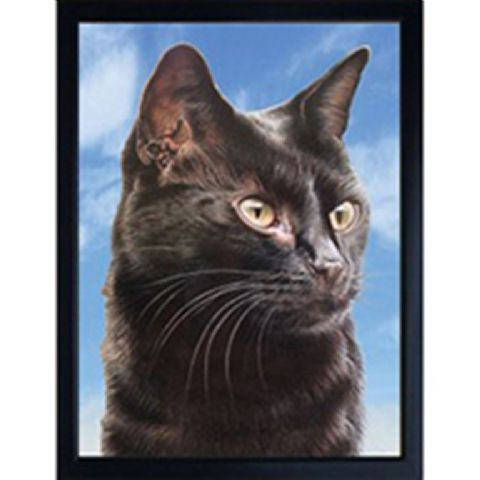 CAT (BLACK) 3D FRIDGE MAGNET